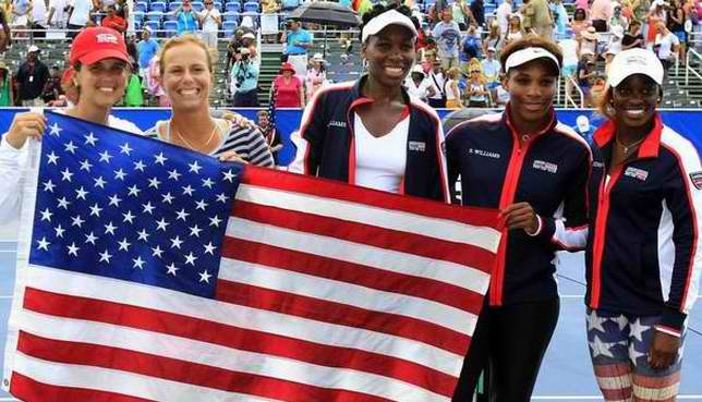 Serena and Venus Williams Carries the U.S. Team
