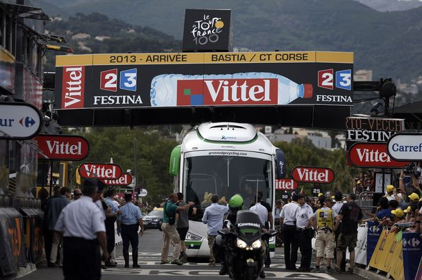 Bus Crashes Finish Line at Tour de France?….Maybe I Should Watch This!