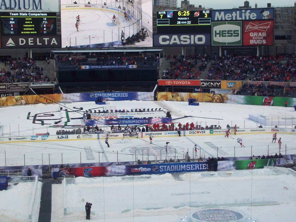 Rangers Rout Devils in First Ever Stadium Series Game at Yankee Stadium